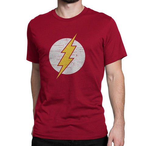Flash Maroon Round Neck T-Shirt - Flairlift