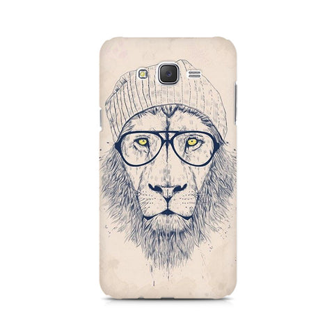 Galaxy J5 Lion with Glasses