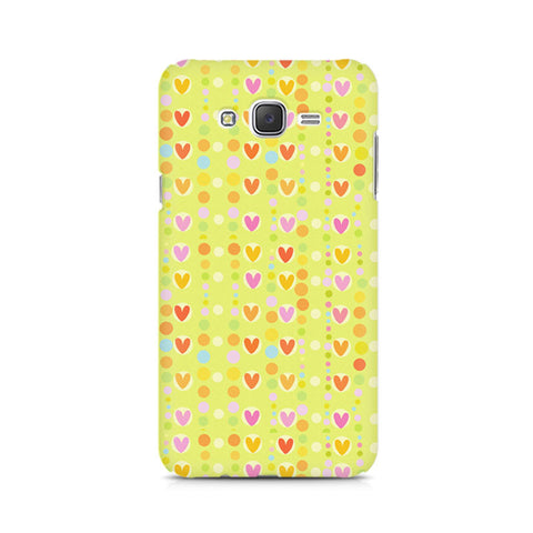 Galaxy J5 Cute Colorful Hearts