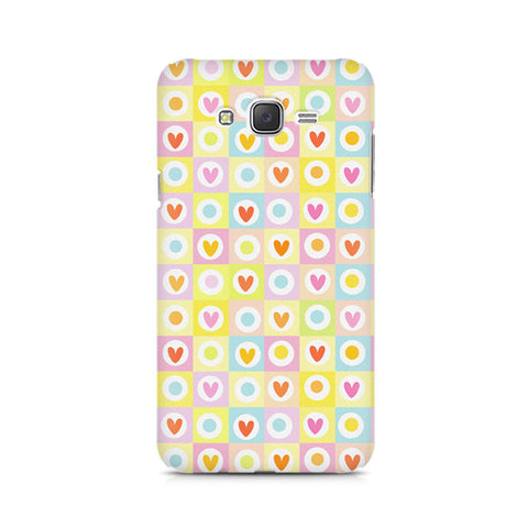 Galaxy J5 Cute Hearts in Squares