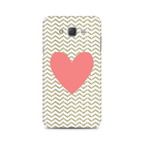 Galaxy J5 Chevron Heart