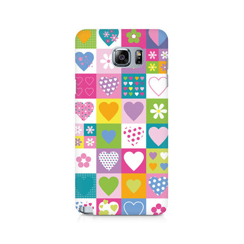 Galaxy Note 5 Abstract Hearts
