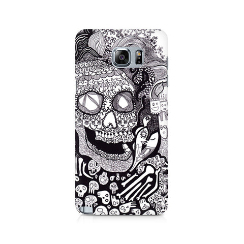 Galaxy Note 5 Skull Doodle Abstract