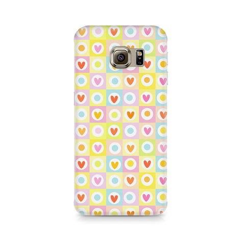 Galaxy S6 Edge+ Cute Hearts in Squares