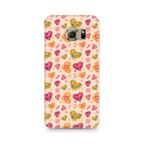 Galaxy S6 Edge+ Cute Pink Hearts