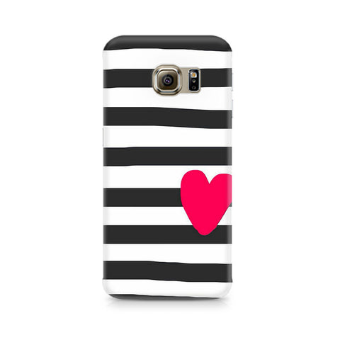 Galaxy S6 Edge+ Cute Heart On Zebra Print