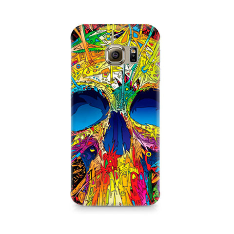 Galaxy S6 Abstract Skull Art