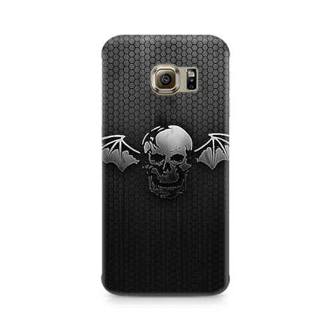Galaxy S6 Black Skull Wings