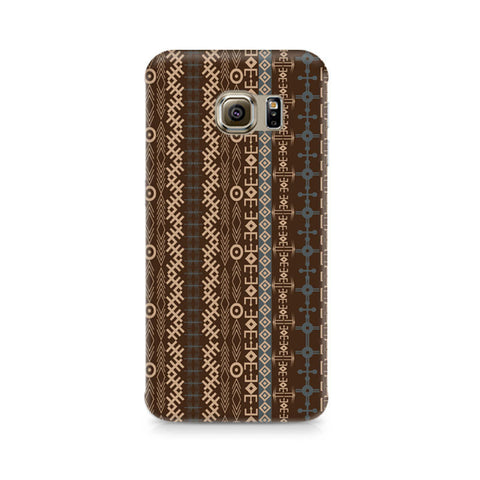 Galaxy S6 Brown Tribal Strips