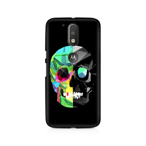 Moto G4+ Abstract Skull