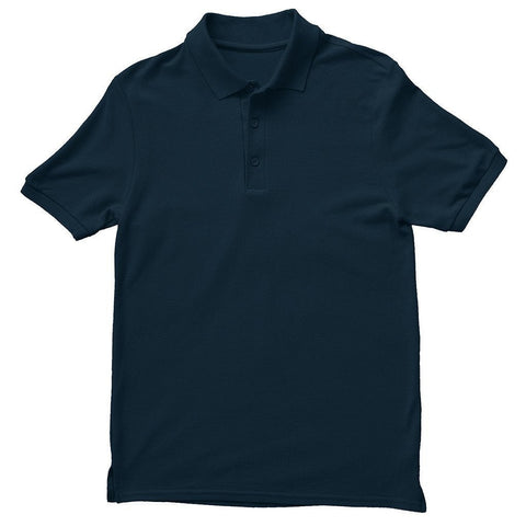 Basics Navy Blue Unisex Polo T-shirt - Printrove