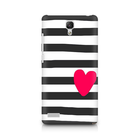 Redmi Note Cute Heart On Zebra Print