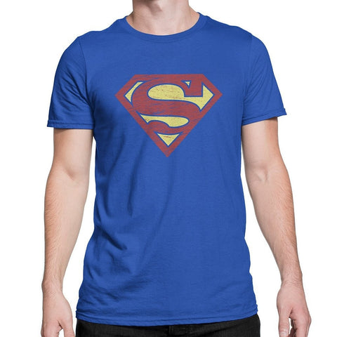 Classic Superman Royal Blue Round Neck T-Shirt - Flairlift