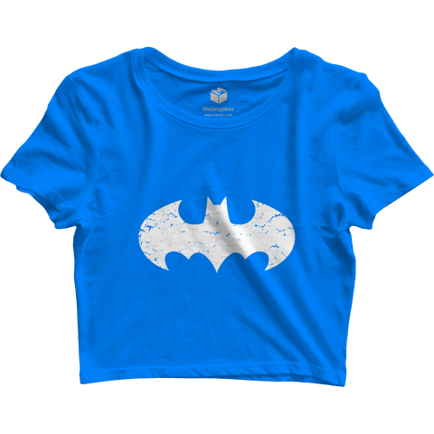 Batman Blue Crop Top - Printrove