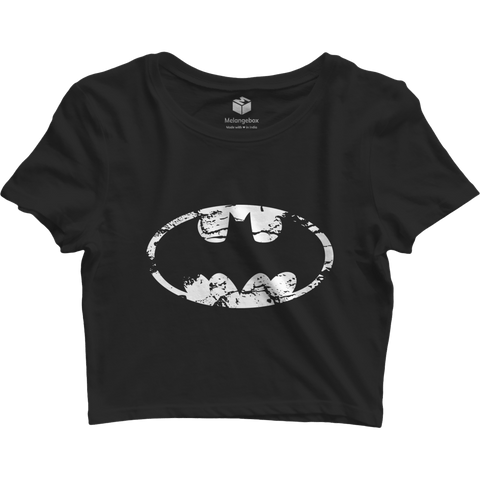 Batman Black Crop Top - Printrove