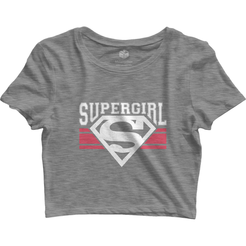 Supergirl Grey Crop Top