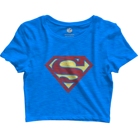 Supergirl Blue Crop Top