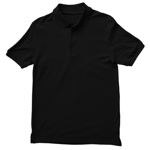 Basics Black Unisex Polo T-Shirt - Printrove
