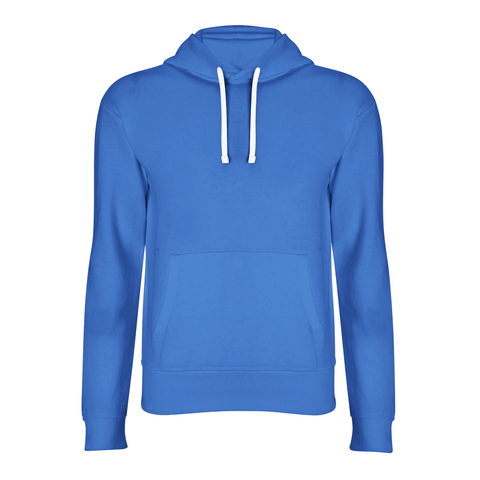 basic blue hoodie front