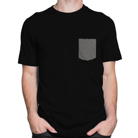 Classical Wavy Pocket Roundneck Men's T-shirt - Printrove