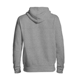basic light grey hoodie back