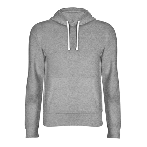 basic light grey hoodie front