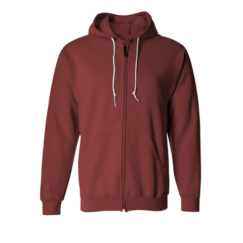 Basic Maroon Zipper