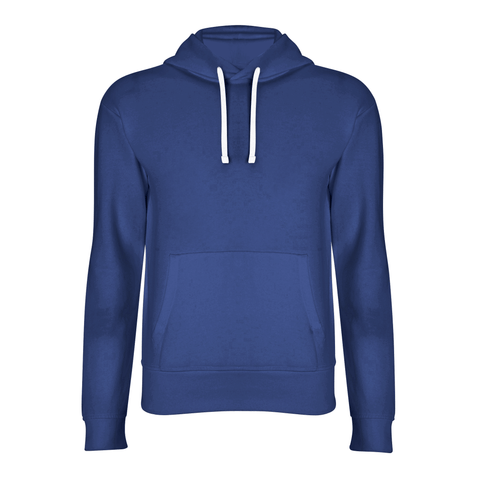 basic navy blue hoodie front