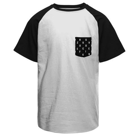 Half Sleeves ZFG Funky Pocket White/Black Combo Raglan T-shirt