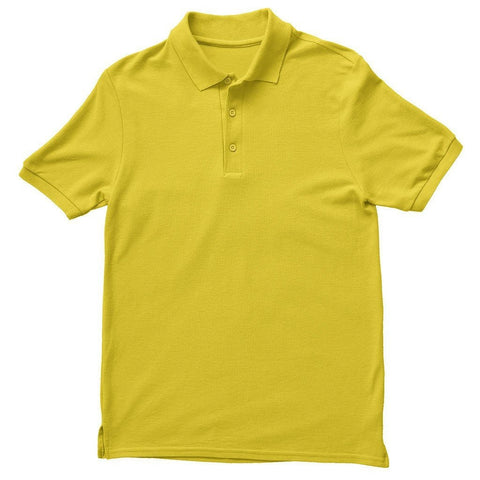 Basics Yellow Unisex Polo T-shirt - Printrove