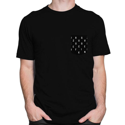 Zero Fucks Pocket Roundneck Men's T-shirt