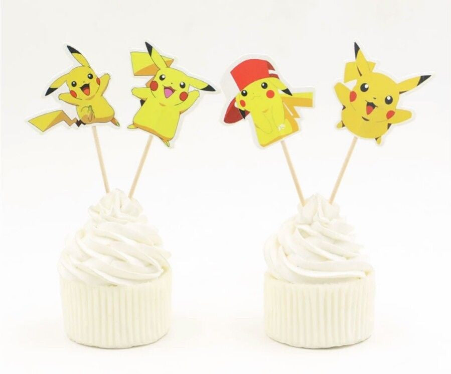 Pokemon Go Cupcake toppers Pikachu