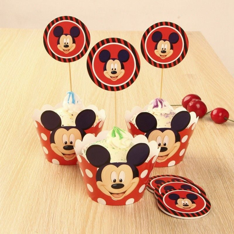 Mickey Mouse Cupcake Toppers & Wrappers