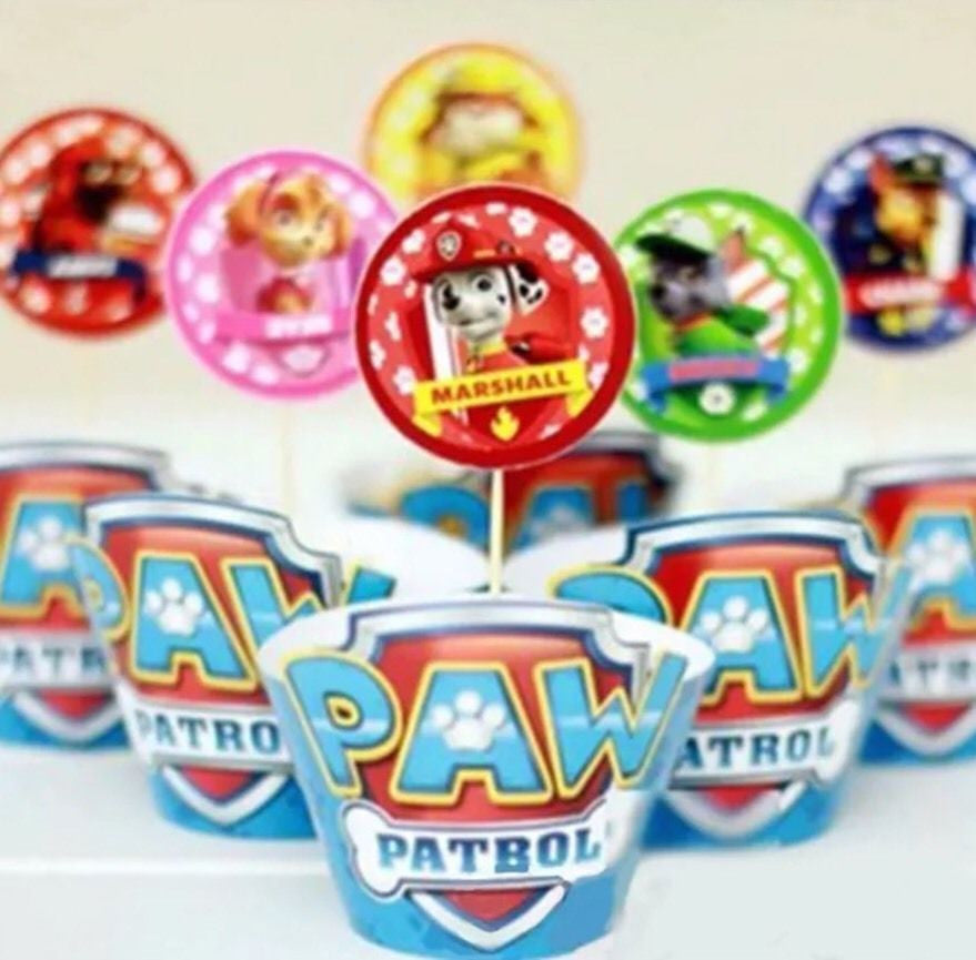 Paw Patrol Cupcake Toppers & Wrappers