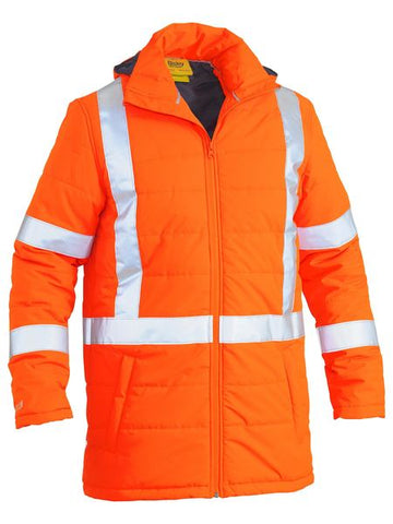 Bisley Taped Hi Vis Puffer Jacket With X Back (BJ6379XT)
