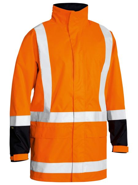 Bisley Taped Hi Vis Rain Shell Jacket-(BJ6967T)