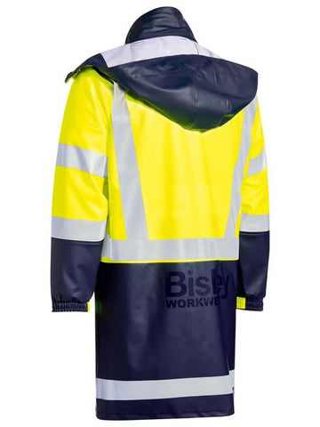 Bisley Taped Two Tone Hi-Vis Stretch PU Rain Coat(BJ6935HT)