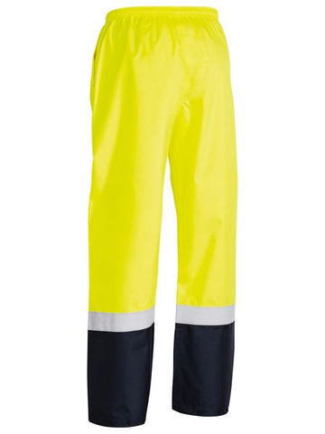 Bisley Taped Two Tone Hi Vis Shell Rain Pant-(BP6965T)