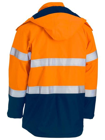Bisley Taped Two Tone Hi Vis FR Wet Weather Shell Jacket (BJ8110T)
