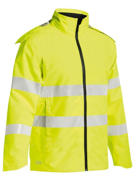 Bisley Taped Hi Vis Light Weight Ripstop Rain Jacket (BJ6927T)