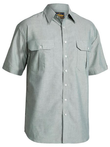 Bisley Oxford Shirt - Short Sleeve-(BS1030)