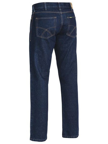 Bisley Industrial Straight Leg Mens Work Denim Jean-(BP6053)