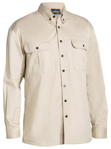 Bisley Mini Twill Shirt - Long Sleeve-(BS6255)