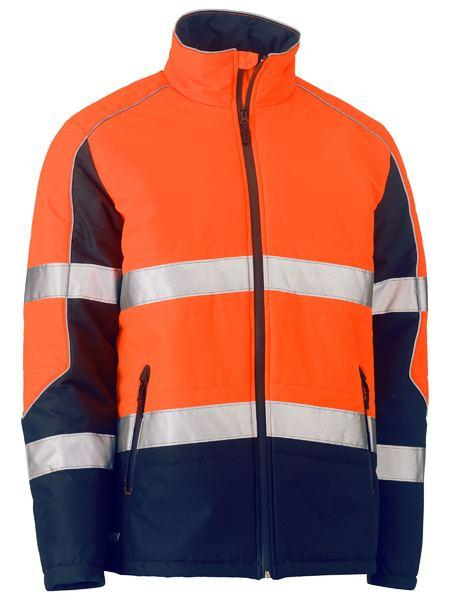Bisley Taped Two Tone Hi Vis Puffer Jacket (BJ6829T)