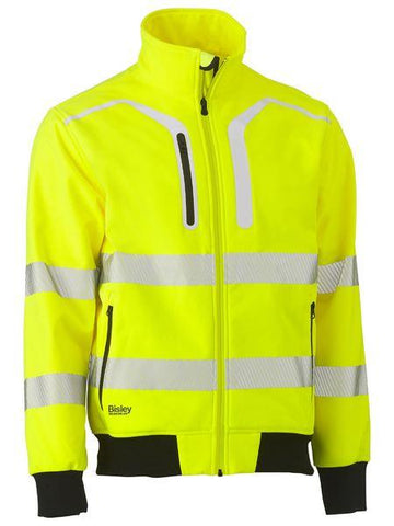 Bisley Taped Hi Vis Soft Shell Bomber Jacket (BJ6979T)