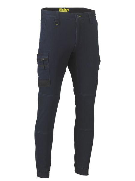 Bisley Flex And Move™ Stretch Denim Cargo Cuffed Pants (BPC6335)