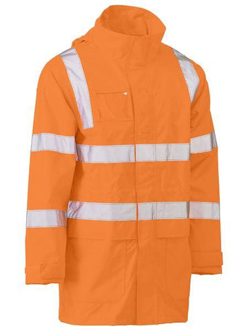 Bisley Taped Hi Vis Rail Wet Weather Jacket (BJ6964T)
