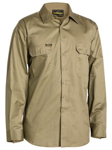 Bisley Cool Lightweight Drill Shirt - Long Sleeve-(BS6893)