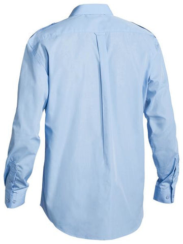 Bisley Epaulette Shirt - Long Sleeve-(B76526)