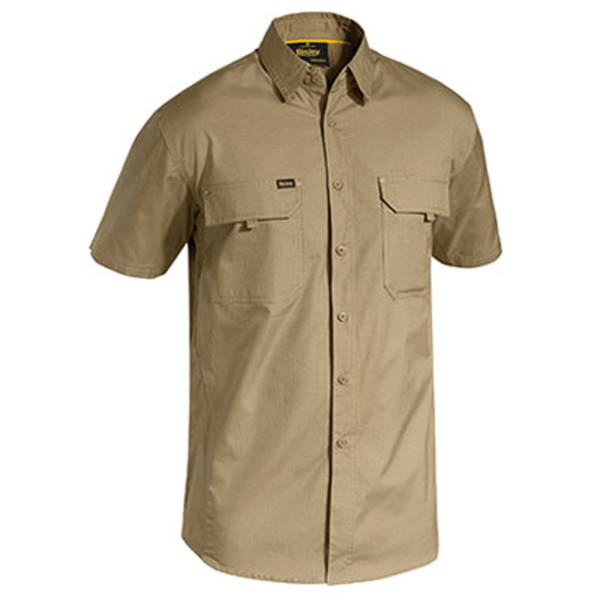 Bisley Mens X Airflow™ Ripstop Work Shirt Short Sleeve-(BS1414)